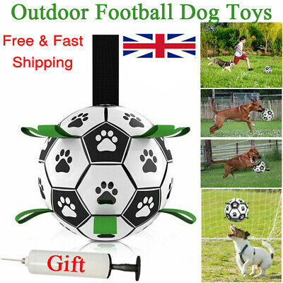 £15.98 • Buy New Leather Football For Dog Toys Puppy Large Dogs Outdoor Training Pets Game UK