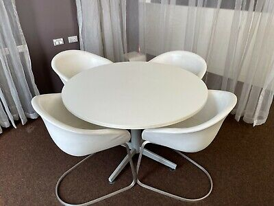 AU50 • Buy Round Table And 4 Chair Set For Dining, Office, Meeting