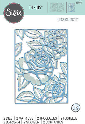 £10.99 • Buy Sizzix Thinlits- Floral Lattice Set Of 2 Dies 665082 *New For 2021*