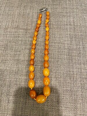 £449.67 • Buy Antique Nature Butterscotch Amber Beads Necklace 老蜜蜡
