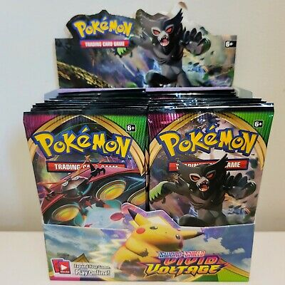 $69.95 • Buy [10 PACKS] VIVID VOLTAGE Booster Pack Lot. Factory Sealed From Box Pokemon Cards