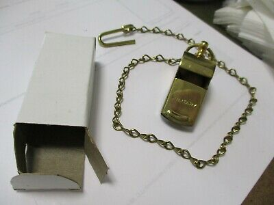 $19.95 • Buy WWII Brass MILITARY WHISTLE Made In USA - Original Cork Ball & 14  Chain Boxed
