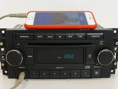 $100 • Buy DODGE JEEP CHRYSLER OEM Radio Single CD Disc Player With AUX IN Stereo UNIT REF