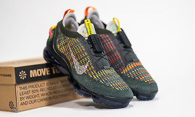$179.99 • Buy Nike Air Vapormax 2020 Flyknit FK Newsprint Green Olive Multicolor CW1765-001