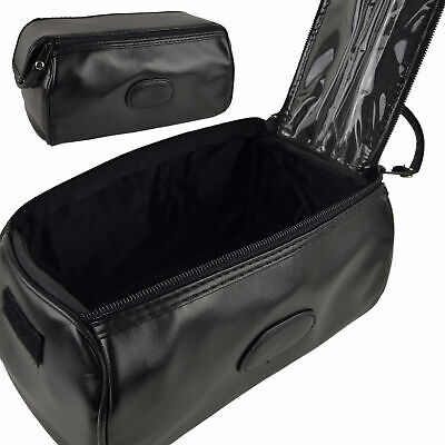 AU49.83 • Buy Mens Faux Leather Classic Travel Twin Zip Washbag By Danielle Creations; Milano