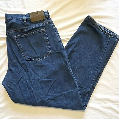 $12 • Buy Mens REDHEAD Size 42 X 32 Denim Blue Jeans FLANNEL LINED Heavy