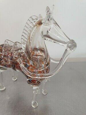 £40 • Buy Vintage Murano Large Glass Horse