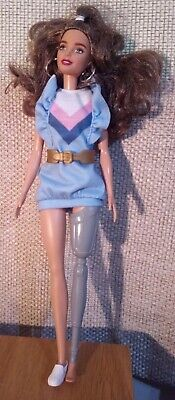 £7.99 • Buy Barbie Fashionistas Doll With Long Brunette Hair And Prosthetic Leg