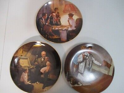 $ CDN11.33 • Buy Knowles Norman Rockwell Limited Edition Collector Plates Lot Of 3