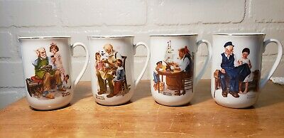 $ CDN25.16 • Buy Vintage Lot Of 4 Norman Rockwell Collector's Mugs 1982 (norman Rockwell Museum)
