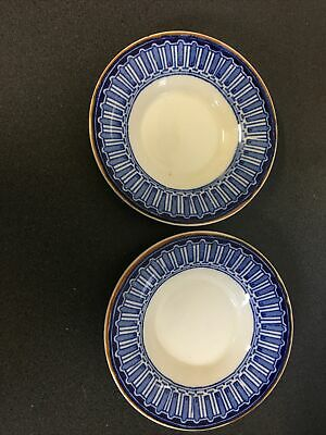 £13.23 • Buy Vintage Wood & Sons 2 'Perth' Plates 11 Cms Classic Blue & White Design