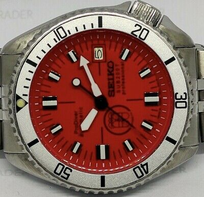 $ CDN91.99 • Buy Seiko Diver 7002-700a Prodiver Red Sub200t Dial Mod Automatic Mens Watch 080394