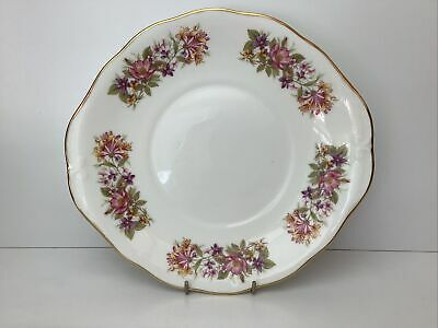 £7.99 • Buy Colclough Wayside / Honeysuckle Twin Eared Cake Plate Superb Condition