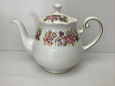 £29.99 • Buy Colclough China Wayside / Honeysuckle Teapot Superb Condition 1.1/2 Pints