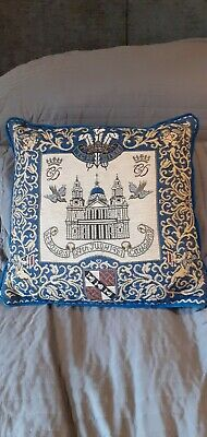 £10 • Buy Charles & Diana Wedding Day Commemorative Cushion St Pauls Cathedral Logo & Date