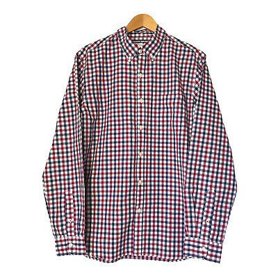 £7.97 • Buy Old Navy Mens Long Sleeve Shirt Size Large Red Blue Check Button Up Regular Fit