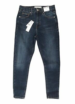 £24.99 • Buy Topshop Jamie High Waisted Skinny Petite Blue Jeans Size10 W28 L28 BNWT RRP £40