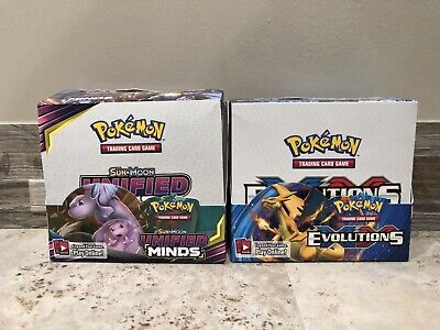 $49.99 • Buy Pokemon Evolutions And Unified Minds Empty Booster Boxes Free Shipping