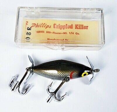 $ CDN19.51 • Buy New In Box Phillips #320 Crippled Killer Lure Chub Scale Made In PA 1950s