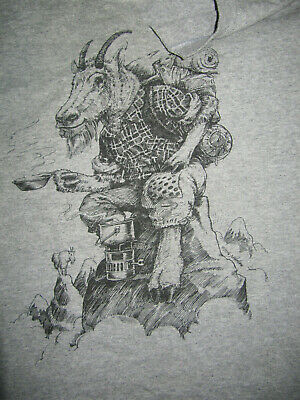 $ CDN107 • Buy VINTAGE COMING ATTRACTIONS 70s NICHOLSON ART Old Goat Hiking T-Shirt Size Men's