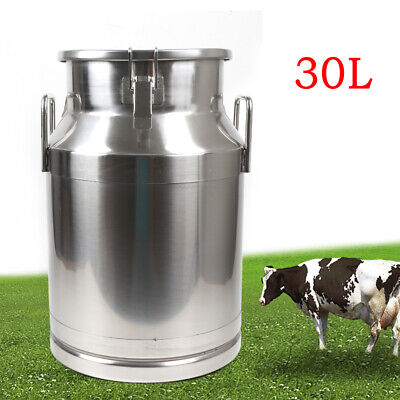 $86.97 • Buy  30L Milk Storage Cans Pail Bucket Jug Oil Barrel Canister Stainless Steel Can