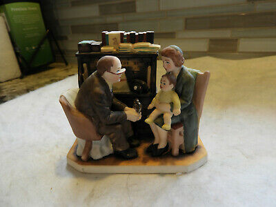 $ CDN11.33 • Buy Vintage Norman Rockwell Figurine By Gorham  The Annual Visit  1982