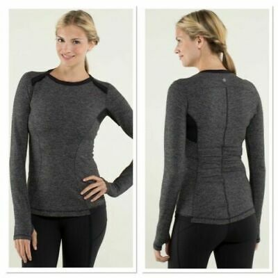 $ CDN31.41 • Buy Awesome LULULEMON  Base Runner  Long Sleeve Top Breathable 4-Way Stretch SM/6