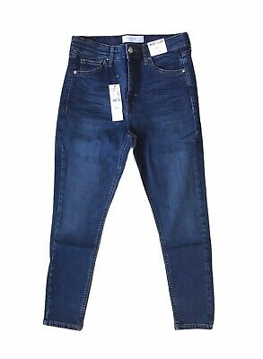 £24.99 • Buy Topshop Jamie High Waisted Skinny Petite Blue Jeans Size12 W30 L28 BNWT RRP £40