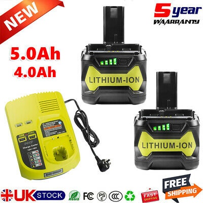 £59.59 • Buy 18 VOLT FOR RYOBI P108 One+ PLUS HIGH CAPACITY LITHIUM-ION BATTERY OR CHARGER UK