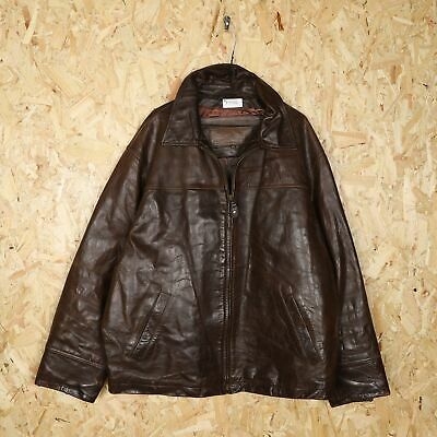 $38.52 • Buy TIMBERLAND Leather Coat Jacket Brown   XL