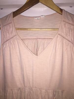 £4 • Buy Maternity Top - Gap Pink Top, With Small Cutout Detail, Size XS.