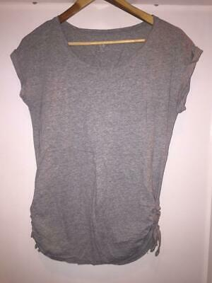 £4 • Buy Maternity Top - Gap Grey T-shirt With Tie Detail On The Sides, Size XS.