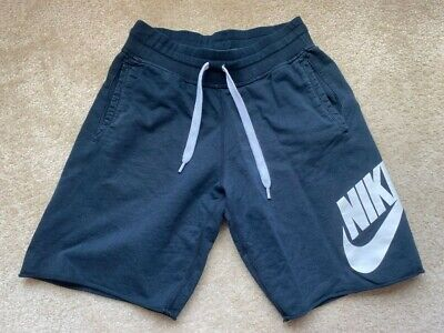 $19.99 • Buy Nike Sportswear French Terry Mens Fleece Shorts Navy Size S Summer Cool