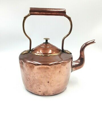 £24 • Buy Antique Victorian Copper And Brass Kettle With Goose Neck Spout