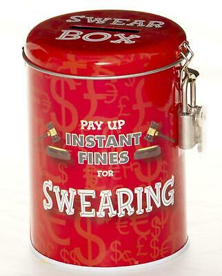 £5.99 • Buy Swearing Fines Tin Money Box | Funny Gift For Kids Husband Or Friend