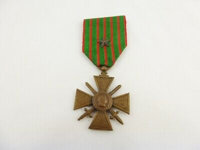 £8.50 • Buy WW1 France / French Croix De Guerre 1914 - 1918 Medal With Bronze Star