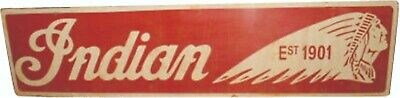 $ CDN98.19 • Buy Porcelain Indian Motorcycles Enamel Sign Size 40  X 10  Inches