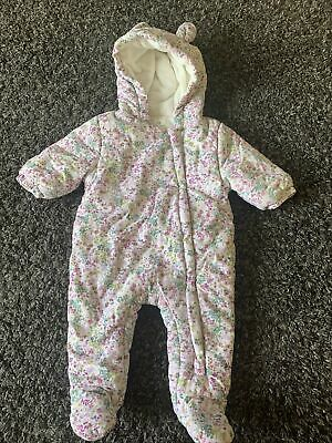 £1.20 • Buy NEXT BABY Floral 0-3 Month Pramsuit