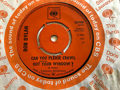 £0.99 • Buy Bob Dylan - Can You Please Crawl Out Your Window? - Original 1966 UK CBS Single