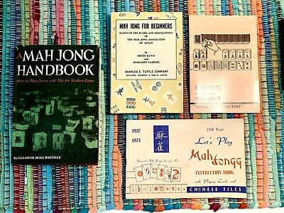 $15 • Buy Vintage Book Collection 1950-70s How To Play MAH JONGG Set Of 4 Excellent Cond