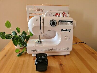 £50 • Buy Beldray 12 Stitch Electronic Sewing Machine Boxed Foot Pedal And Power Lead