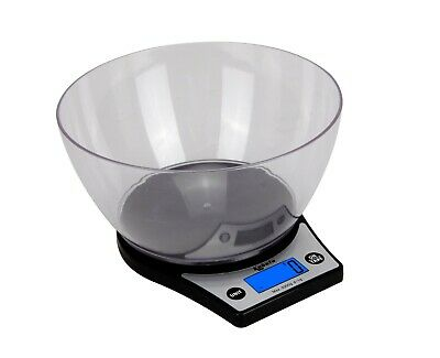 £8.99 • Buy Electronic Digital 5000/1g Kitchen Cooking Black With Bowl Weighing Scales