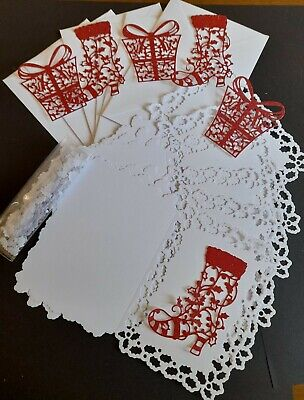£2.20 • Buy Craft Bundle - C6 Holly Edged Christmas Cards Boots, Presents Toppers & Confetti