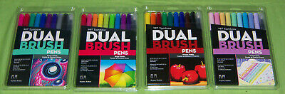 £21.46 • Buy 40 Tombow Dual Brush Pens Pastel Primary Galaxy Bright LOT OF 4