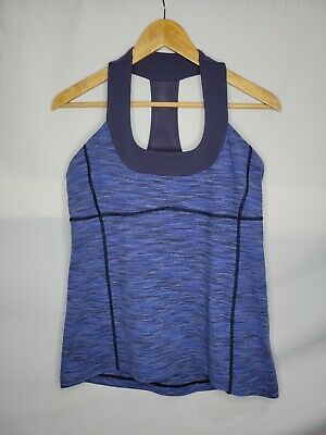 $ CDN30 • Buy Lululemon Scoop Neck Luon Tank Top Size 12 XL We Are From Space Cadet Blue Yoga