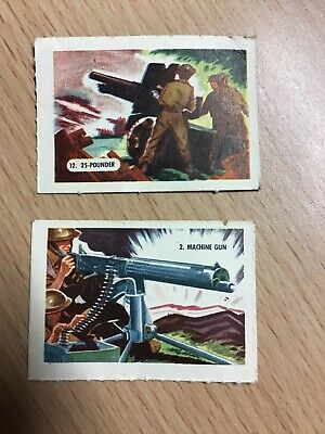 £0.99 • Buy Kelloggs Trading Cards - 2 From Firearms Series Of 15