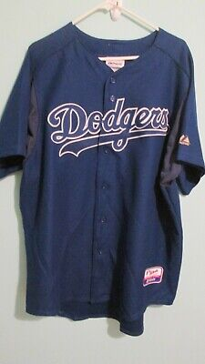 $19.99 • Buy Majestic L A Dodgers Blue Away Blank Jersey Size XL USED