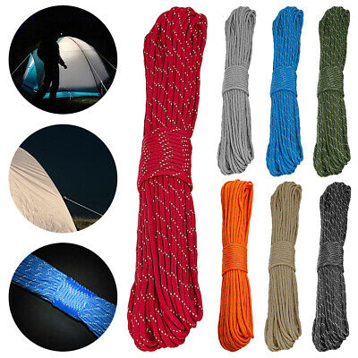$13.99 • Buy 550LB Paracord Parachute Cord Rope Reflective 9 Strand 30FT Military Tent Hiking