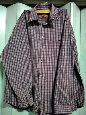 AU15 • Buy RM Williams Men's Shirt XXL--relaxed Fit, Red Check.