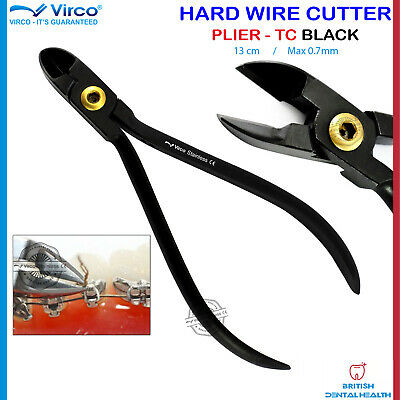 £14.99 • Buy Black Orthodontic Hard Wire Pin Cutter Pliers Ligature Tungsten Carbide Tip CE